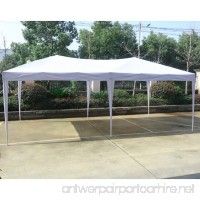 10'x20'EZ Pop Up Canopy Tent Instant Canopy Party Tent W/Free Carry Bag Waterproof BestMassage - B07BYJ9W85