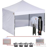 (18+ colors)AbcCanopy Commercial 10x10 Ez Pop up Canopy Party Tent Fair Canopy with 6 Zipped End Sidewalls and Roller Bag Bonus 4x Weight Bag (white) - B00ZTR6VRU