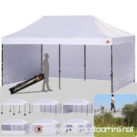 ABCCANOPY 10 X 20 Ez Pop up Canopy Tent Commercial Instant Gazebos with 9 Removable Sides and Roller Bag and 6x Weight Bag - B016UN5OVA