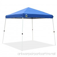 CROWN SHADES Patented 10ft x 10ft Base and 8ft x 8ft Top Slant Leg Outdoor Pop up Portable Shade Instant Folding Canopy with Carry Bag Blue - B07CGBYTP4