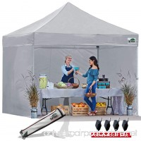 Eurmax 10x10 Ez Pop Up Canopy Outdoor Canopy Instant Tent with 4 zipper Sidewalls and Roller Bag Bouns 4 weight bags - B00K67AMQY