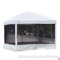 Goutime 10 x 10 Ft Pop Up Canopy Tent with Mesh Side Walls Outdoor Screen House with Wheeled Carry Bag Suitable for All Seasons - B074DTZ3FR