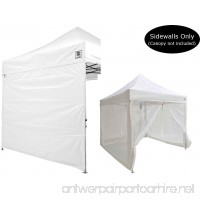 Impact Canopy 10x10 Canopy Tent Solid Sidewalls/Screen Room Sidewalls Combo Pack (White) - B00VIQ19NW