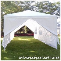 Mefeir 10'x30' Party Wedding Tent with 8 Removable Panels Sidewalls Upgraded Steel Tube Waterproof Sun Shelter Anti UV Protection Outdoor Canopy (10'x30' with 8 Removable Panels) - B01NAGX7JY