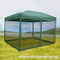 Quictent 8x8 Easy Pop up Canopy Screen House Tent with Netting Mesh Side Walls for Deck Patio and Backyard (Green) - B01I1APAXC