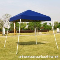 VIVOHOME Slant Leg Outdoor Easy Pop Up Canopy Party Tent Blue 10 x 10 ft - B076GXD4D2