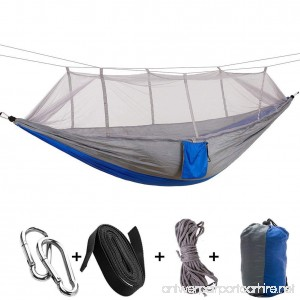 A-MORE Camping Hiking Hammock Mosquito Net Outdoor Nylon Fabric Lightweight Double Travel Beach Yard Backyard - B074222JZ6