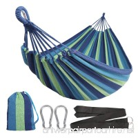 Anyoo Single Cotton Outdoor Hammock Multiples Load Capacity Up to 450 Lbs Portable With Carrying Bag for Patio Yard Garden - B077147NV7