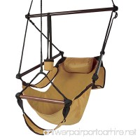 Best Choice Products Hammock Hanging Chair Air Deluxe Outdoor Chair Solid Wood 250lb Tan - B003P583A6