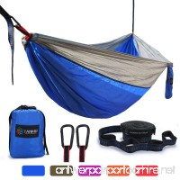 Camping Hammock  Lightweight Portable Garden Double Hammocks - Premium Nylon Parachute Hammock With Tree Straps For Backpacking Travel Beach Yard(5 Colors) - B078ML2RRX
