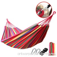 Camping Hammock Lightweight with Tree Straps For Backpacking Camping Travel Beach Garden (Rainbow) - B06WGM6DYT