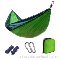 Camping Hammocks Garden Hammock Cotton Fabric Canvas Parachute Hammock for Camping Travel Yard (green) - B07B4DQQDW