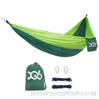 DQS Double Camping Hammock Portable Lightweight Parachute Nylon Fabric Hammock 600 lbs Capacity for Outdoor Camping Backpacking Travel Garden Yard Beach Swing Any Adventure - B0727XWMQH