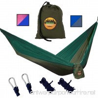 Greenbelt Camping Hammock | Lifetime No Tear Promise | Portable Super-Lightweight Parachute Nylon w/Carabiners | Outdoor & Indoor Hammocks | Best for Backpacking  Beach  Travel  Hiking  Campus - B077GKL8VC