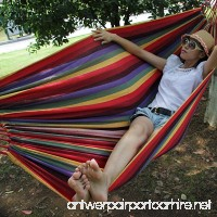 Hewolf Rainbow Hammock with Tree Straps Outdoor Comfortable Cotton Hammock Easy to Assemble for Patio Porch Garden or Backyard - B01C6LC6U2