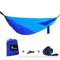 """iYaYoo Parachute Single Camping Hammock With 2 x Hanging Straps and Carabiners Multifunctional Lightweight Nylon Portable Hammock for Camping  Beach  Yard  Garden  Outdoors 106"""" L x 55"""" W - B071DZG6S1"""