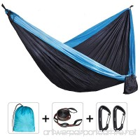 Peacechaos Double Outdoor Camping Hammocks - Weather Resistant Lightweight Parachute Nylon- Includes Stretch Resistant Tree Strap Suspension System With 16 Loops Per Strap Making - B01JFRJVVW