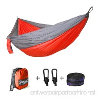 ShingoC Portable Outdoor Travelling Lightweight Parachute Nylon Double Camping Hammocks with Straps - B075XLHNZ8