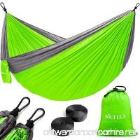 Soufull Camping Hammock with Hammock Tree Straps&Carabiners Portable Parachute Nylon Hammock for Backpacking Travel Beach Yard - B01KNR2O80