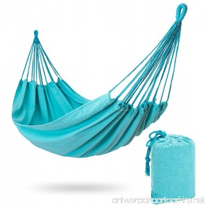 Stratr Brazilian Hammock - Double Hammock for Porch Backyard Indoor and Outdoors - Extremely Comfortable Woven Cotton Fabric (Turquoise) - B0755W757Q