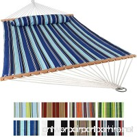 Sunnydaze 2 Person Double Hammock with Spreader Bar Quilted Fabric Bed - For Outdoor Patio Porch and Yard (Catalina Beach) - B00OQHDDD4