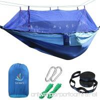 SZXKT Camping Double Hammock Mosquito Net Outdoor Hammock Travel Bed Lightweight Parachute Fabric Double Hammock Portable Hammock for Travel Hiking Backpacking Beach Yard. - B01J1BCPTC
