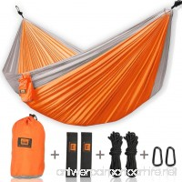 Walbest Double Camping Hammock  Portable Parachute Double Two Person Hammock with 2 X Hanging Tree Straps  Lightweight Nylon Hammock For Backpacking  Camping  Hiking  Beach  500lbs - B07919S5F3