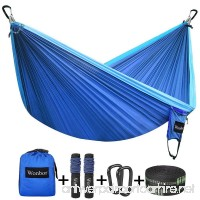 Wonbor Hammock  Camping Double Hammock Lightweight Portable Parachute Nylon Hammock With Tree Straps Ropes for Outdoor Backpack Travel Beach Yard Hanging Bed Sleeping Swing - B07BWVFLX4