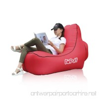 AirPuff Inflatable Lounge Chair Outdoor for Beach Travel Lawn - Comfortable Lazy Chair Lounger Portable (Red) - B07C6YY2GV