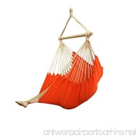 Best Sunshine XXL Brazilian Hammock Chair Heavy Duty Hanging Rope Hammock Chair Striped Cotton 40inch Wide Seat Swing Seat Hanging Chair for Indoor or Outdoor- Patio Yard Bedroom Porch Orange - B07BPX1CP4