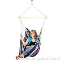 Blue Sky Outdoor Hanging Chair with Two Cushions and Free Hammock Straps - B00N2RP2PG