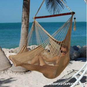 Caribbean Hammocks Polyester Hanging Chair Large 48 L Tan - B008XTV694