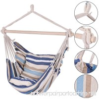 Deluxe Hammock Rope Chair Porch Yard Tree Hanging Air Swing Outdoor - B01MRUFMOA