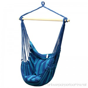 Fashine Splicing Color Hanging Rope Chair Tree Hammock Chair for Outdoor Indoor Backyard (US Stock) (Blue) - B07B92R7L5