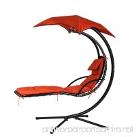 FILLBOSS Hanging Chaise Lounger Chair Swing Lounge Hammock for outdoor outside and patio with Stand with Canopy Outdoor furniture/Hammock Chair/Hammock Stand/Hanging Chair/Lounge Chair/Porch Swing - B073PGFMFN