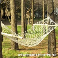 Gifts & Decor Cotton Rope Hammock Cradle Chair with Wood Stretcher (New Style) - B077SB6BW4