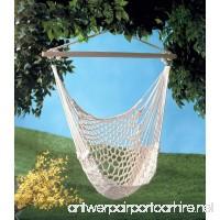 Homey Delight Hammock Swing Chair Hanging Cotton Cloth Porch Tree Rope Outdoor Garden Seat - B07FS1FJ4H