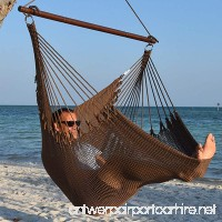 Jumbo Caribbean Hammock Chair with Footrest - 55 inch - Soft-Spun Polyester - Mocha - B00JCY2CTW