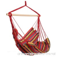 Kaluo Cotton Fabric Hanging Rope Hammock Chair Swing Seat  Max.250lbs Capacity (4) - B0793QSYBB