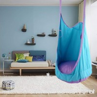 Leiyini Kids Pod Swing Chair Hanging Swing Seat Indoor Outdoor Nook Tent for Children - B07G39SDPB