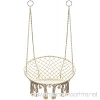 Petra Leisure Bohemian Chic Macrame Dream-Catcher Tassel Rope Chair. Perfect for Indoor/Outdoor Home  Patio  Deck  Yard  Garden. 265LB Weight Capacity. - B07BB2MS81