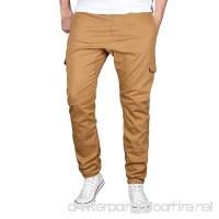 Spbamboo Fashion Men's Sport Pure Color Cotton Casual Sweatpants Drawstring Pant - B07G37RF7K