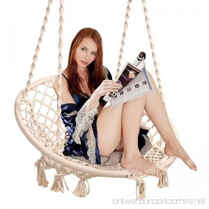 Sumey Macrame Swing Nordic Style Hanging Chair Swing Chair Design 265 Libra Capacidad Suitable for The Living Room Reading Balcony Outdoor Rest - B079FTLX4J