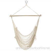 Sunnydaze Cotton Rope Hanging Hammock Chair Swing 48 Inch Wide Seat Max Weight: 330 Pounds - B00KWL8MTS