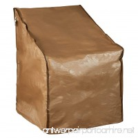 """Abba Patio Water Resistant Lounge Chair Cover  31"""" L x 27.5"""" W x 40"""" H  Brown - B01H38ON7M"""