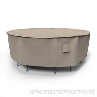 Budge English Garden Round Patio Table and Chairs Combo Cover  Medium (Tan Tweed) - B00JGLJYVA