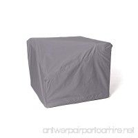 CoverMates - Corner Sectional Chair Cover - 34 Inch Width x 34 Inch Depth x 30 Inch Height - Elite - 300D Poly - Mesh Vent for Airflow - 2 Buckle Straps- 3 Year Warranty - Water Resistant- Charcoal - B078NHW2QV
