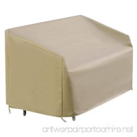 GSV Store Waterproof High Back Patio Loveseat Bench Cover Outdoor Furniture Protection - B07D5FGCVL