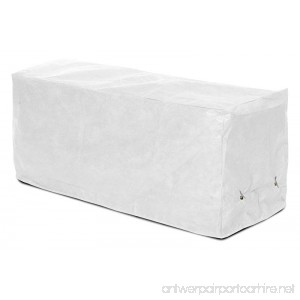 KOVERROOS SupraRoos 54207 8-Feet Bench Cover 96-Inch Width by 25-Inch Diameter by 36-Inch Height White - B0071IWSU4