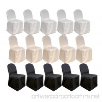 MCombo 100 pcs Polyester Banquet Chair Covers Wedding Party Decorations 7000-4000 (White) - B01LZY2SGT